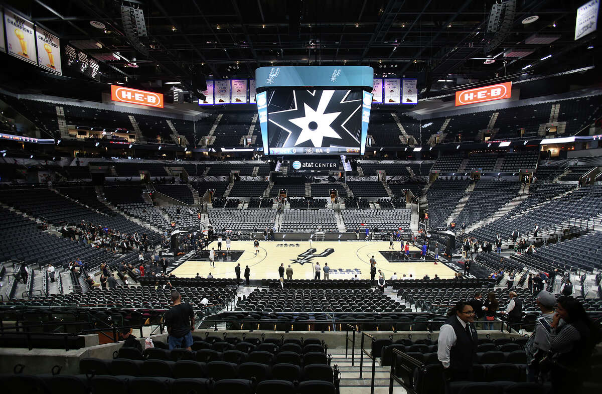 The newly renovated AT&T Center is opened to Spurs fans for the first time on October 18, 2015.