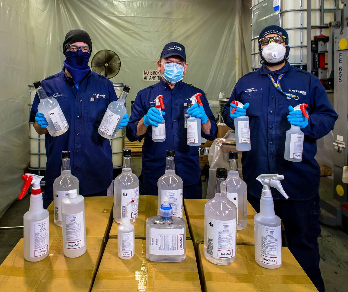 The hard part, Skoufos said, was finding the bottles and caps which were almost as tough to find as the chemicals themselves because other people and companies are also making and bottling their own disinfectants.