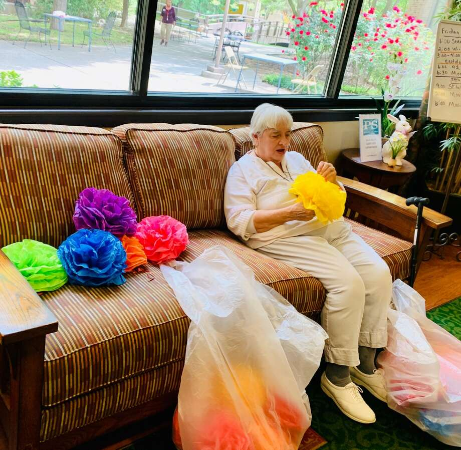 Fiesta may be postponed until November, but that didn't stop the residents at the Morningside Ministries senior living facility from breaking out their flower crowns and decorations. Photo: Courtesy