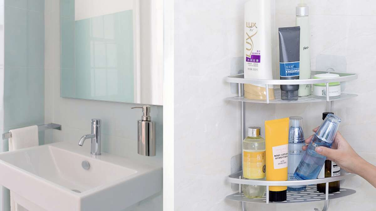 Flowmist 2-Tier Corner Shower Caddy, $25.95If your shower lacks ledge space, don't fret, and don't risk your shampoo bottle falling over constantly. Instead, stick all your body wash, razors, shampoo bottles, and whatever else you use in this two-tier corner shower caddy.