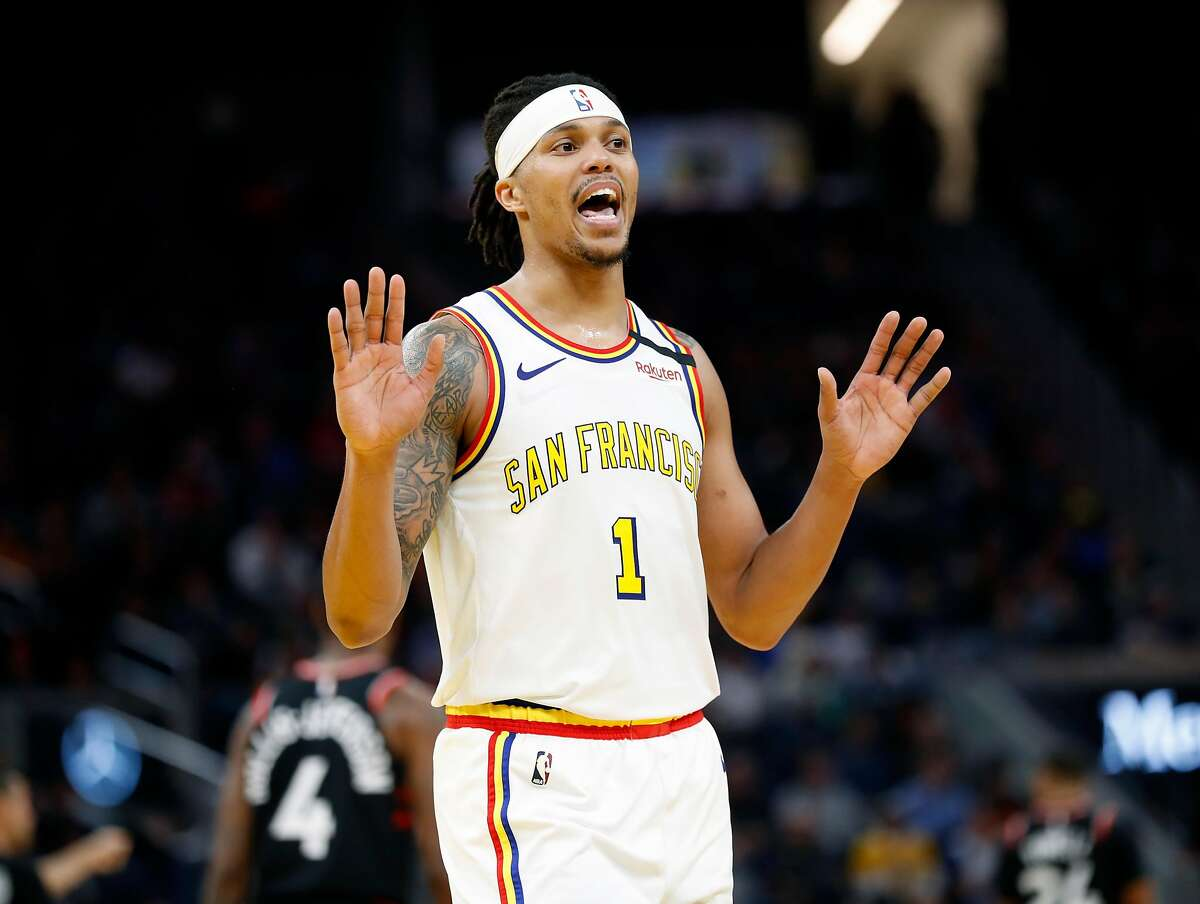 Golden State Warriors' Damion Lee during Toronto Raptor's' 121-113 win in NBA game at Chase Center in San Francisco, Calif., on Thursday, March 5, 2020.