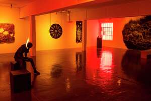 """Visitors will get to see works such as Carlos Castro Arias' """"I came to set the world on fire, and I wish it were already kindled — Luke 12:49"""" when Artpace reopens."""