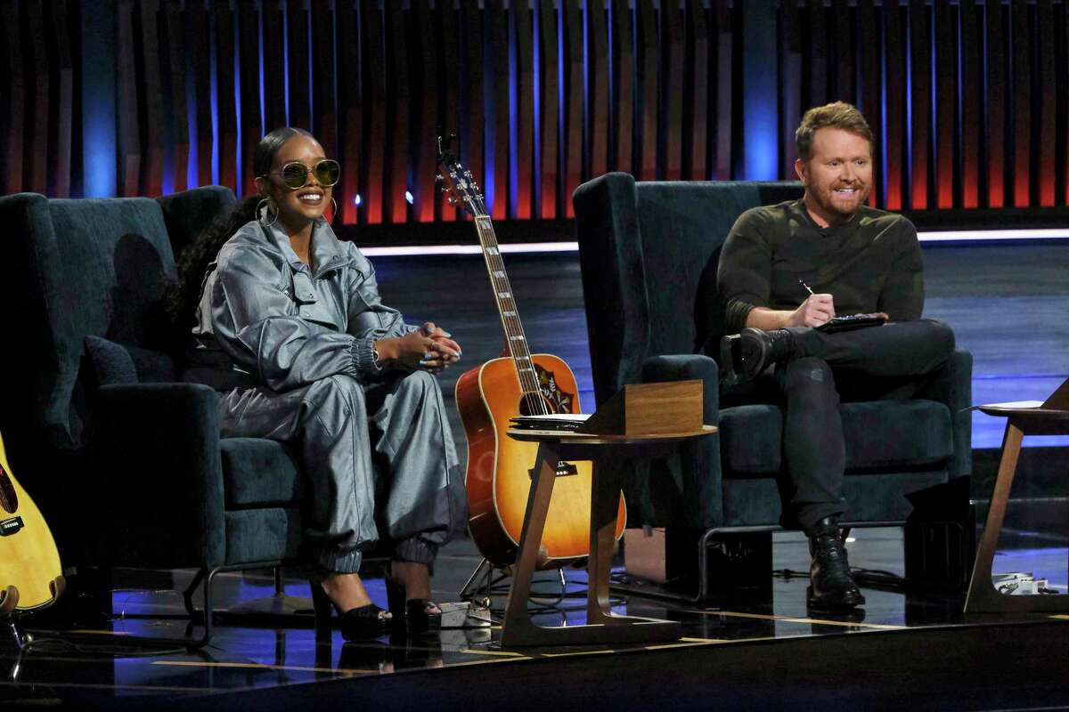 """Grammy-winning R&B artist H.E.R. and music producer Shane McAnally on the NBC series """"Songland."""""""