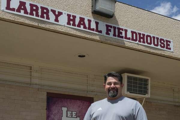 Lee High coach Frank Maldonado 04/23/2020 outside Lee High School. Tim Fischer/Reporter-Telegram