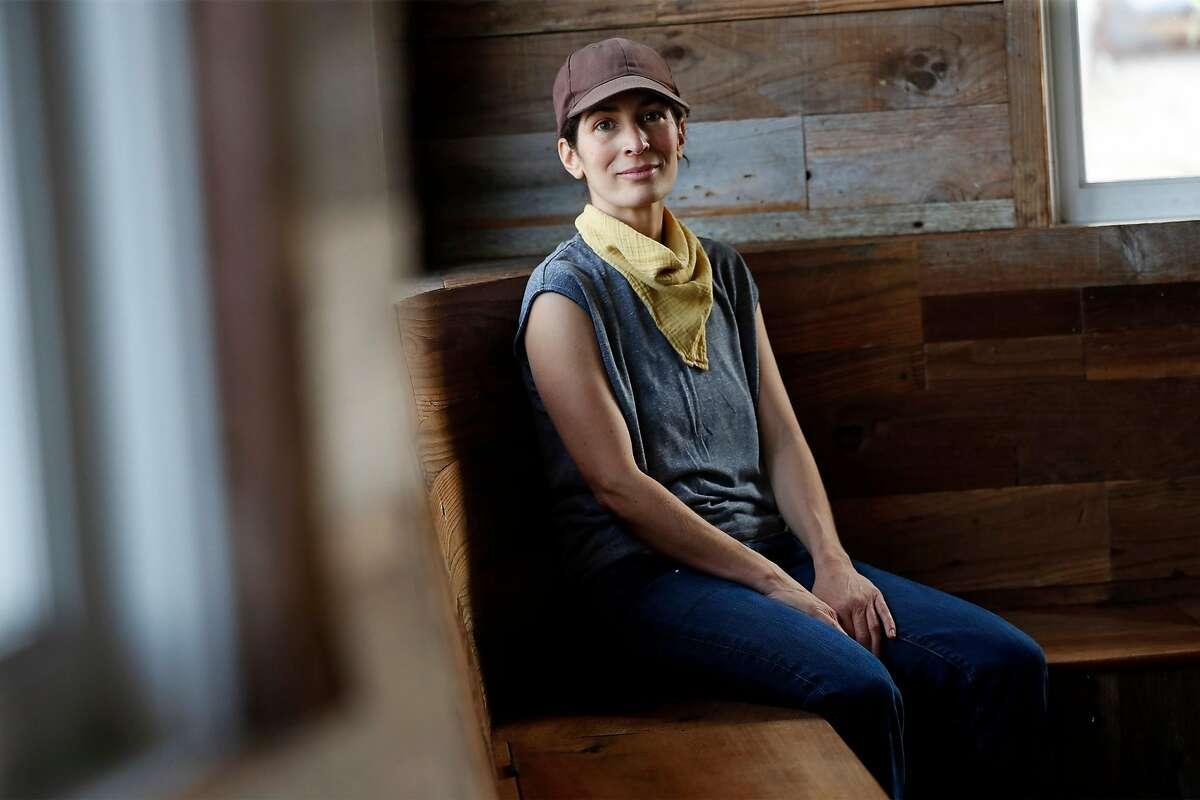 Outerlands' owner Lana Porcello at her closed restaurant in San Francisco, Calif., on Thursday, April 23, 2020.
