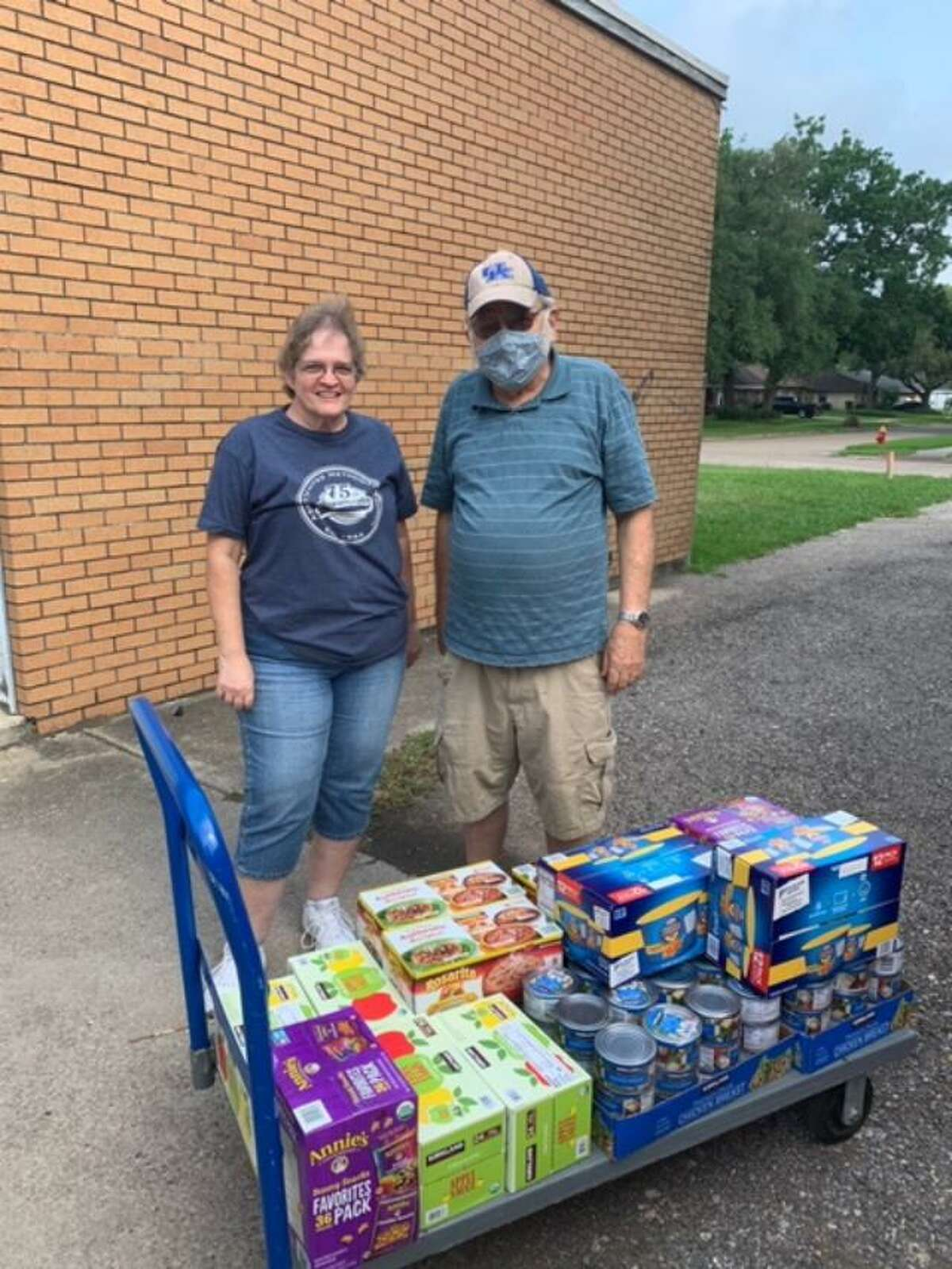 Local businesses such as Texas Oil Patch Services and NAG Clinics have donated goods to Pasadena food pantries. Representatives from Pasadena Community Ministries, shown here, received this donation.