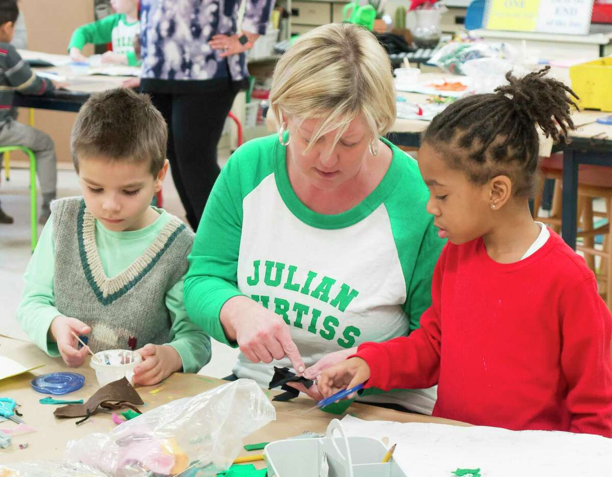 Le Ann Hinkle, an art teacher at Julian Curtiss School and North Mianus School, was selected in recognition of her contributions to art education.