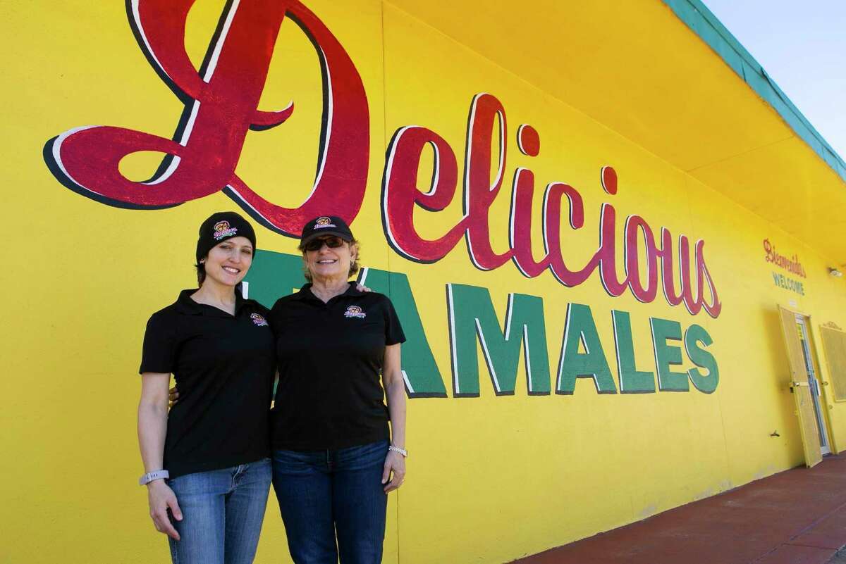 Herlinda Lopez-Wood, left, and Valerie Gonzalez-Handly, right, at Delicious Tamales' Culebra Road store in San Antonio. The business obtained a $232,000 Paycheck Protection Program loan through the Bank of San Antonio.