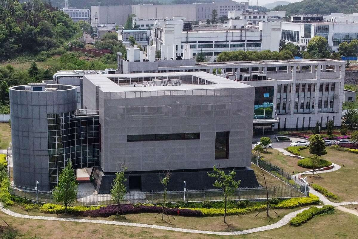 An aerial view shows the P4 laboratory at the Wuhan Institute of Virology in Wuhan in China's central Hubei province on April 17, 2020.