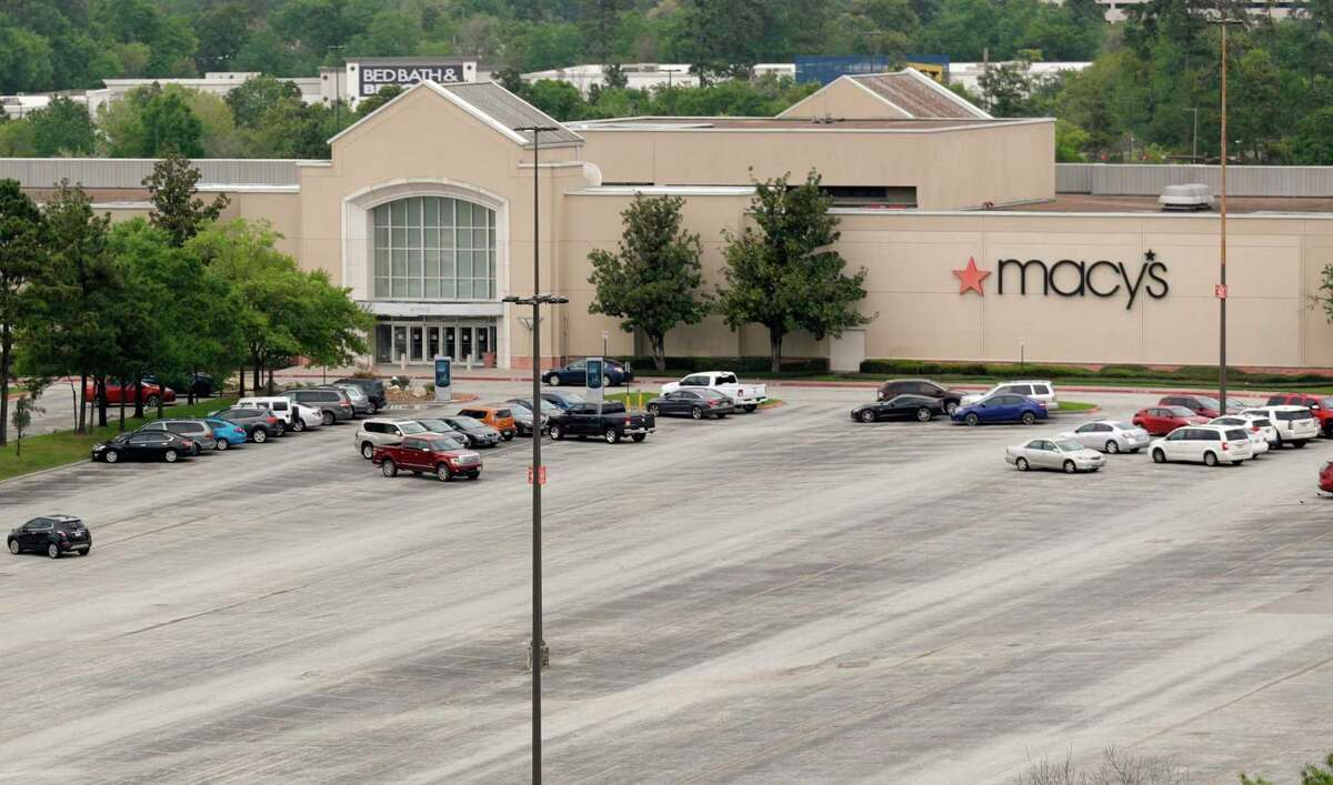 The parking lot in front of Macy's at The Woodlands Mall is seen, Monday, March 16, 2020, in The Woodlands. Owners had previously adjusted the mall's hours to noon - 7 p.m. Monday thru Saturday and noon to 6 p.m. due to coronavirus concerns. Some of the mall's retailers are now open for curbside pick-up.