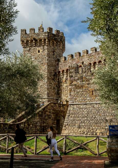 Guests visit Castello di Amorosa in Calistoga, a winery meant to resemble a Tuscan castle. Photo: John Storey / Special To The Chronicle 2019