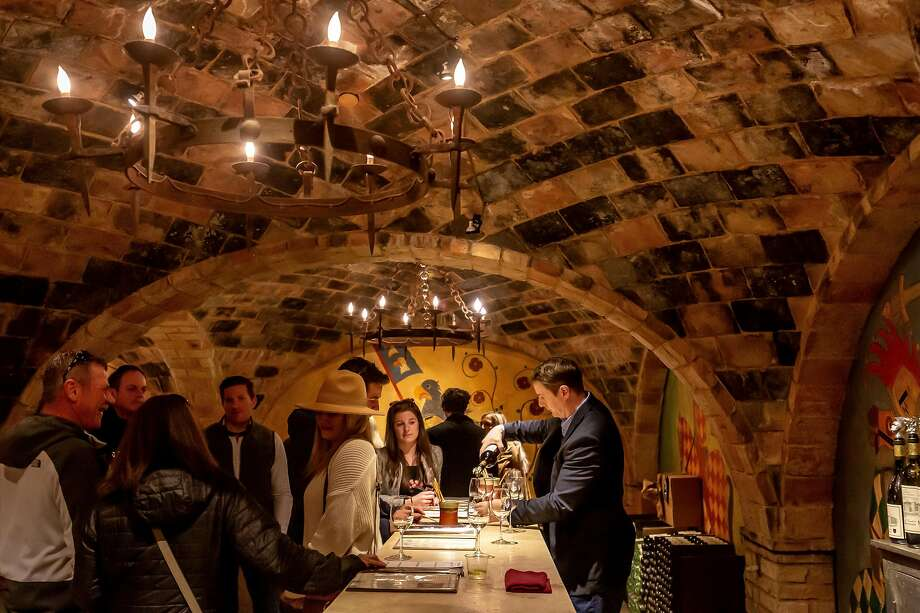 One of many tasting rooms at the Castello di Amorosa winery in Calistoga, seen in 2019. The winery is currently closed to visitors. Photo: John Storey / Special To The Chronicle 2019