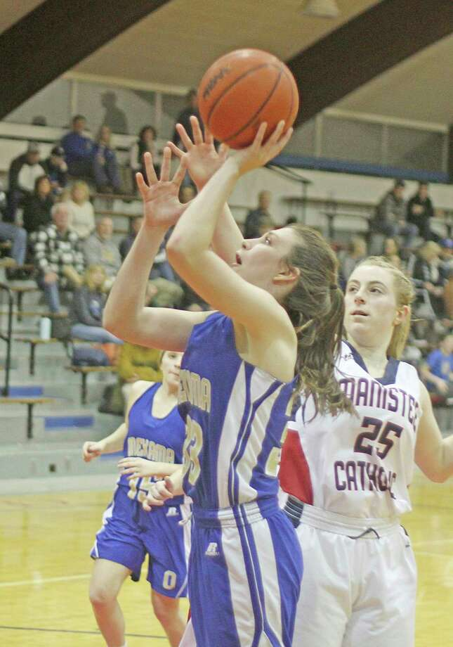Onekama's Colleen McCarthy was an honorable mention on this year's BCAM's best list for Division 4. (News Advocate file photo)