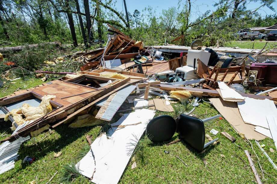 The beauty shop at the Price house in Jamestown had withstood many storms over the years, but not this one. A tornado ripped through parts of Newton County on Wednesday night. Photographed on April 23, 2020.  Fran Ruchalski/The Enterprise Photo: Fran Ruchalski, The Enterprise / The Enterprise / © 2020 The Beaumont Enterprise