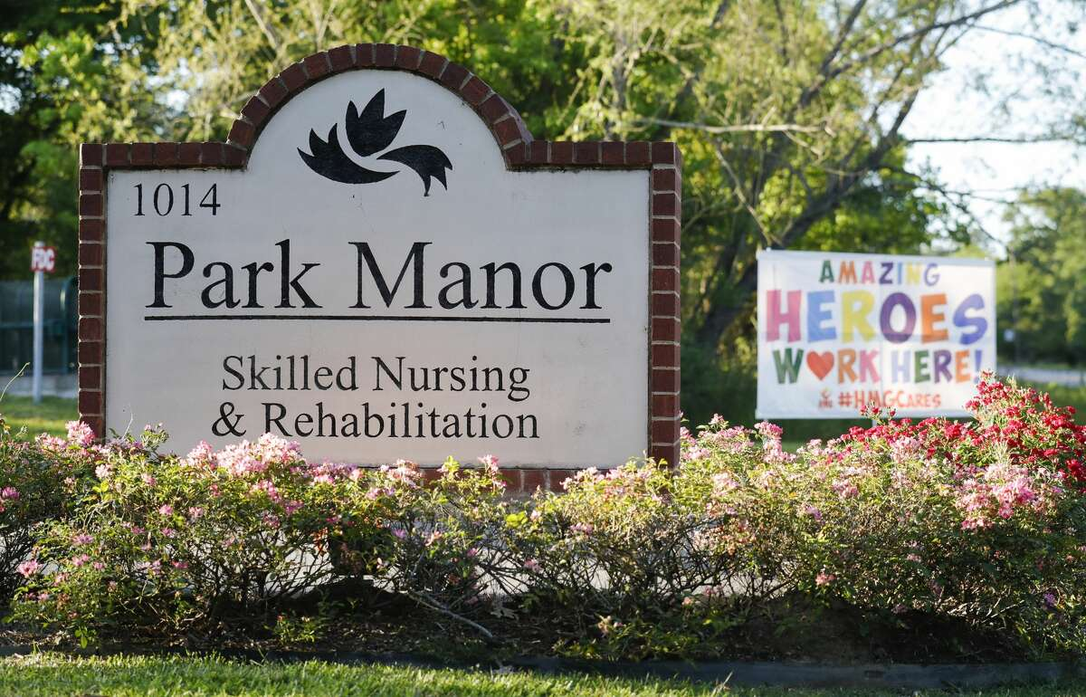 The Park Manor of The Woodlands nursing home is seen, Thursday, April 23, 2020, in Conroe. The Montgomery County Office of Homeland Security and Emergency Management confirmed multiple cases of COVID-19 in Park Manor of Conroe and Park Manor of The Woodlands. Both facilities are home to 21 of the 467 cases, including the man in his 80s whose death was confirmed Thursday.