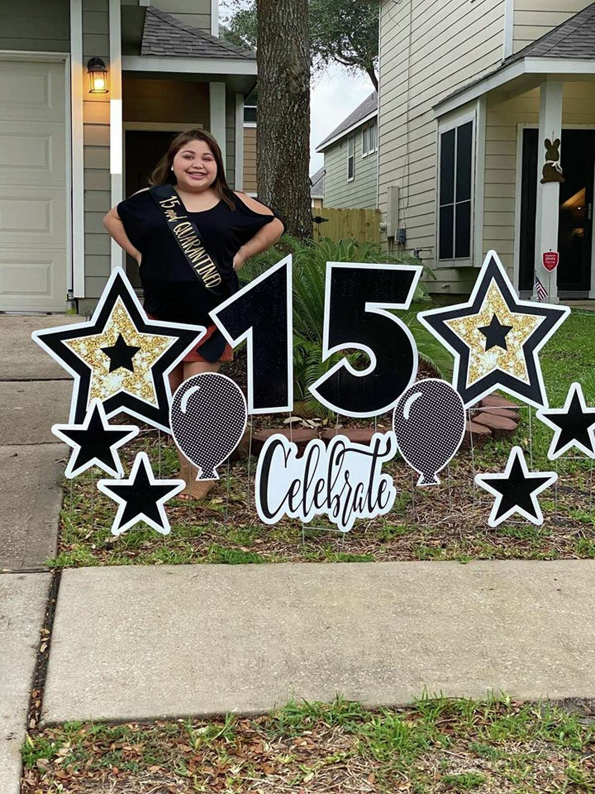 Avery Montalvo celebrated a milestone birthday as family and friends suprised her with a drive-by quinceañera parade.