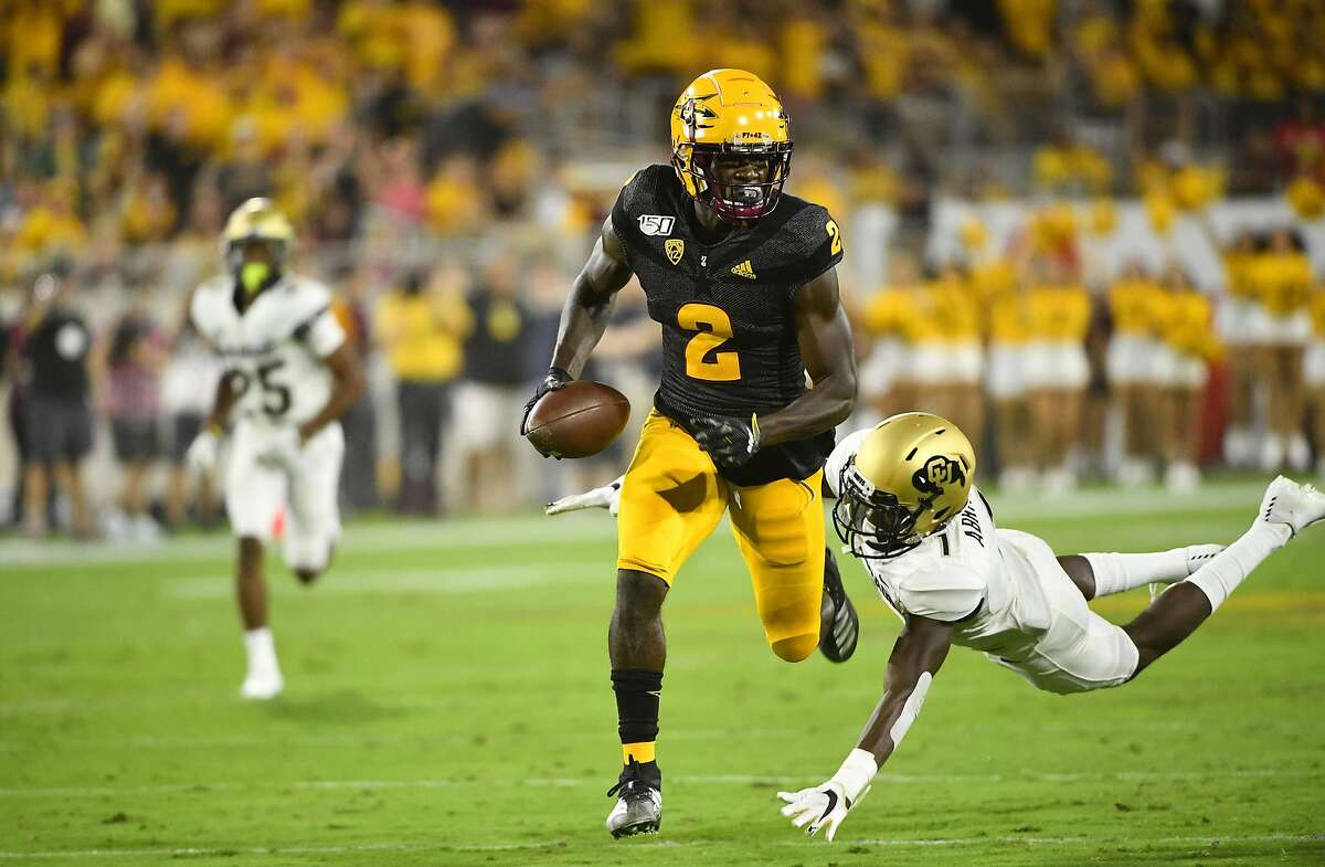 The 49ers traded up to select Arizona State wide receiver Brandon Aiyuk with the 25th pick of the first round Thursday.