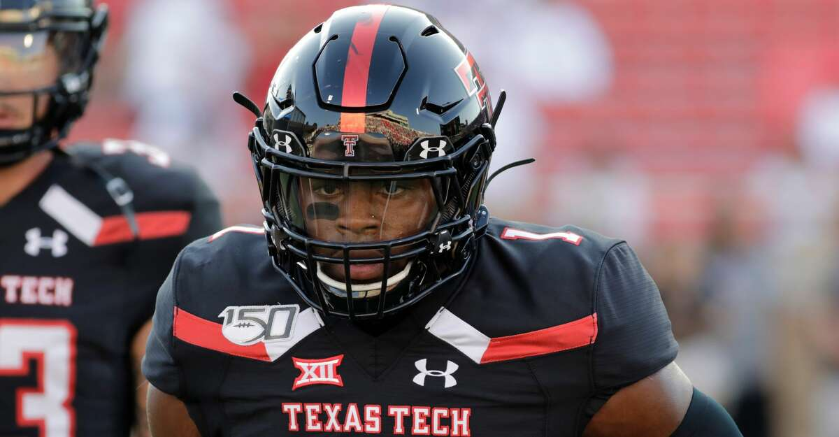 Texas Tech Red Raiders Jordyn Brooks (1) warms up before the college football game between the Texas Tech Red Raiders and the University of Texas El Paso Miners on September 7, 2019, at Jones AT&T Stadium in Lubbock, TX. (Photo by Travis Tustin/Icon Sportswire via Getty Images)