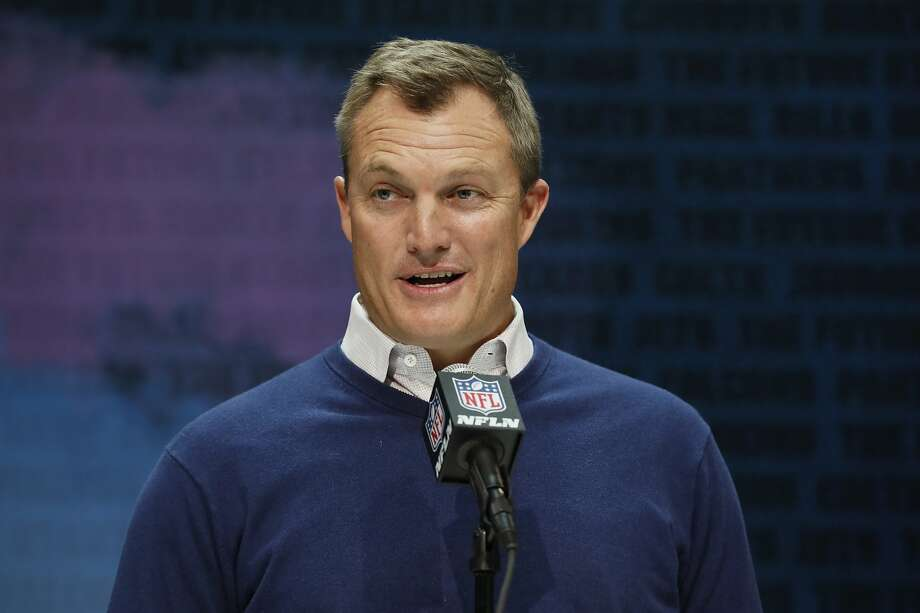 FILE - In this Feb. 25, 2020, file photo, San Francisco 49ers general manager John Lynch speaks during a press conference at the NFL football scouting combine in Indianapolis. Photo: Charlie Neibergall / Associated Press