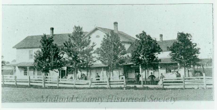 Midland County Poor Farm original structure. (Midland County Historical Society)
