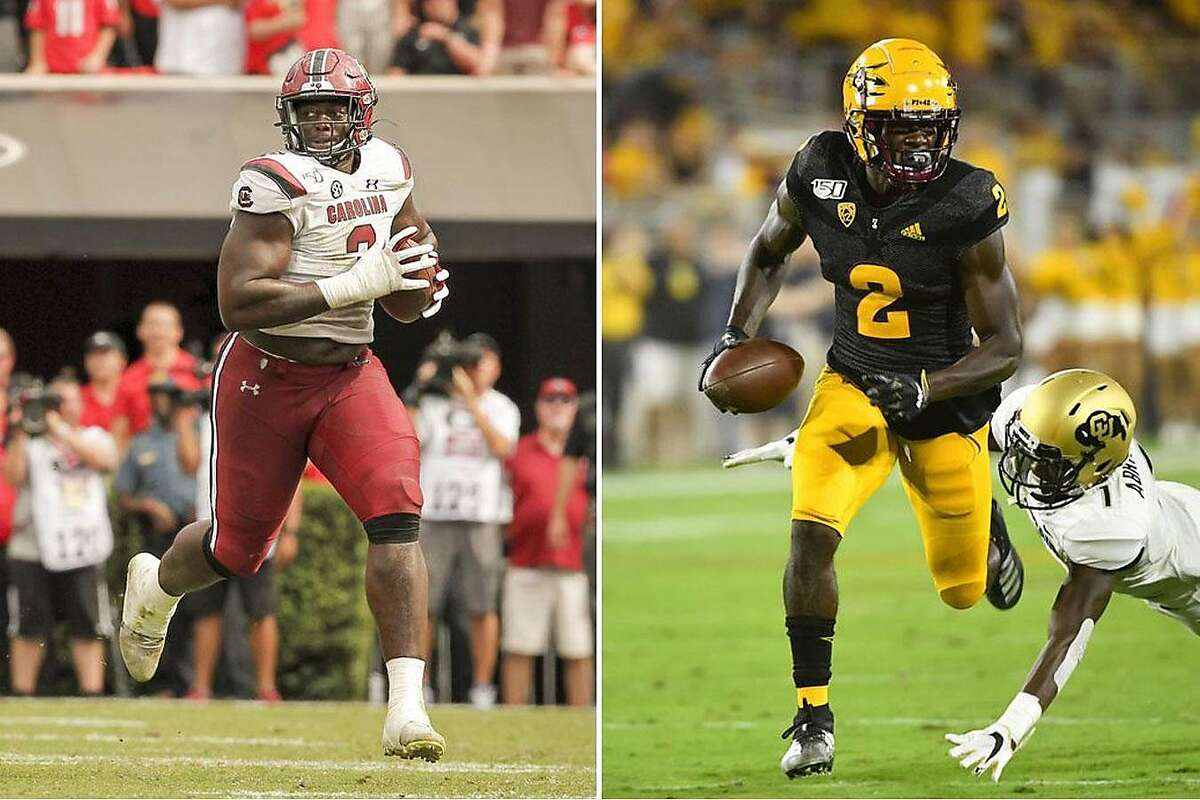 The 49ers selectedSouth Carolina defensive tackle Javon Kinlaw, left,and ASU wide receiver Brandon Aiyuk in the first round.