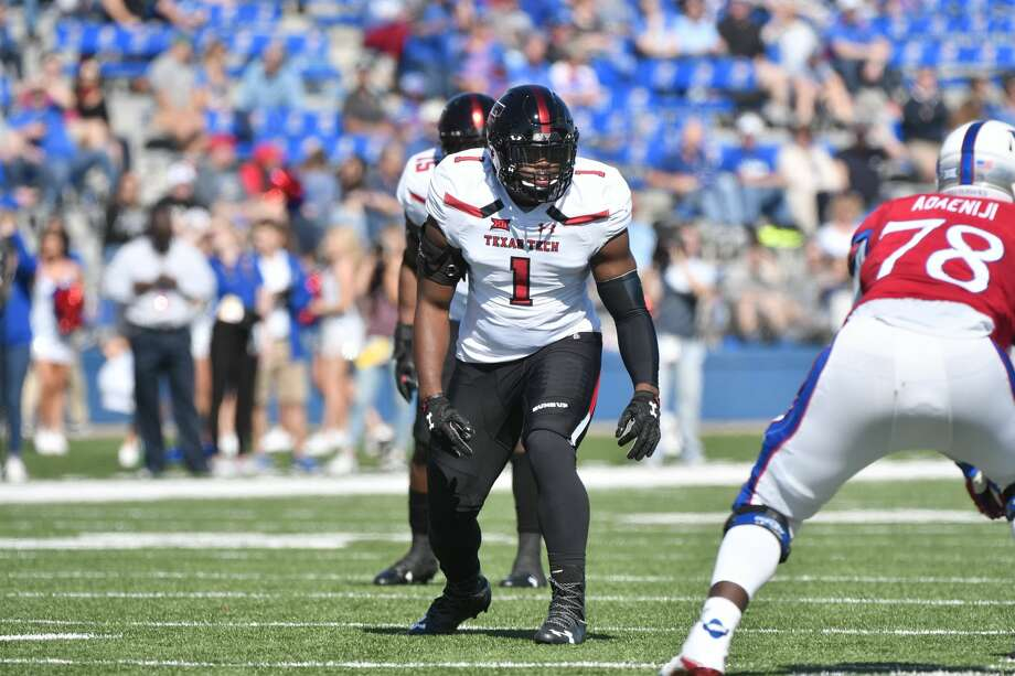 """The Seahawks went with a linebacker with its top pick, when most observers expected the team to address what seemed like more pressing needs. But Seattle sees a player that could """"check all the boxes"""" in former Texas Tech standout Jordyn Brooks. Photo: Ed Zurga/Getty Images / 2017 Ed Zurga"""