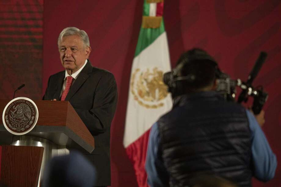 Mexico's President Andres Manuel Lopez Obrador speaks during a news conference at the National Palace in Mexico City, on March 17, 2020. Photo: Bloomberg Photo By Alejandro Cegarra. / © 2020 Bloomberg Finance LP