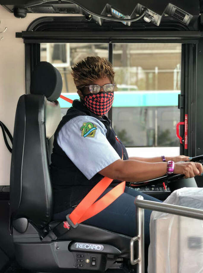 """Madison County Transit driver Zereeta Kinney-Lee said she is seeing people are getting on and off the bus apparently with no particular destination — simply because the rides are free. She also said many people are not wearing masks. """"They seem oblivious to the fact that they may be spreading the virus,"""" she said."""