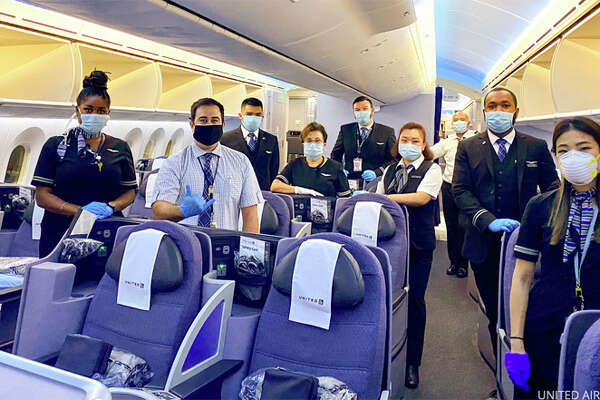 United now requires flight attendants to wear masks.
