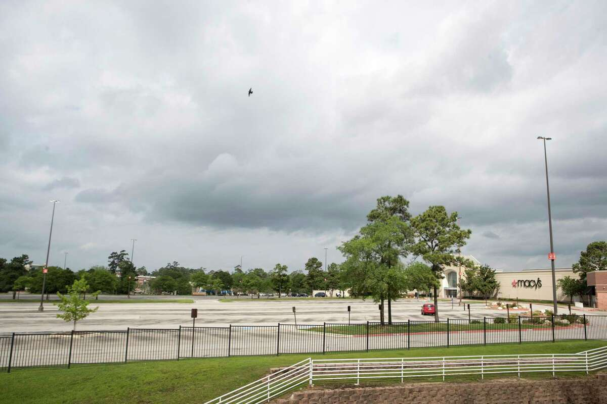 The parking lot at the Woodlands Mall has been empty. In times, good and bad, Americans have long turned to retail therapy. But there's no flocking to stores in a pandemic.
