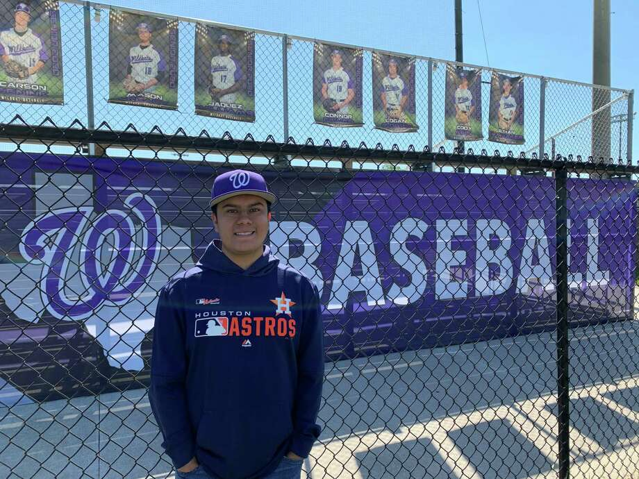 Willis football and baseball manager Israel Espinoza wants to become a sports analyst or broadcaster. Photo: Submitted