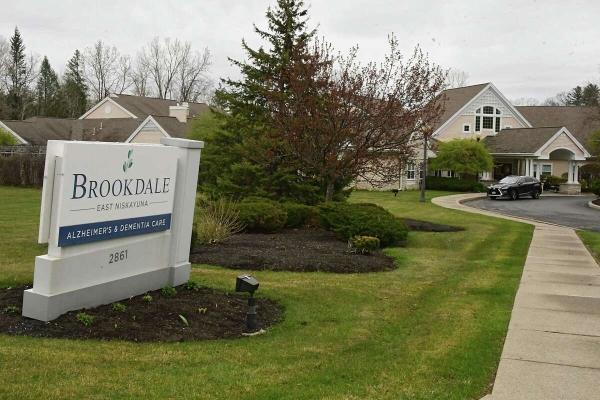 Exterior of Brookdale East Niskayuna Alzheimer's and Dementia Care on Friday, April 24, 2020 in Niskayuna, N.Y. (Lori Van Buren/Times Union)
