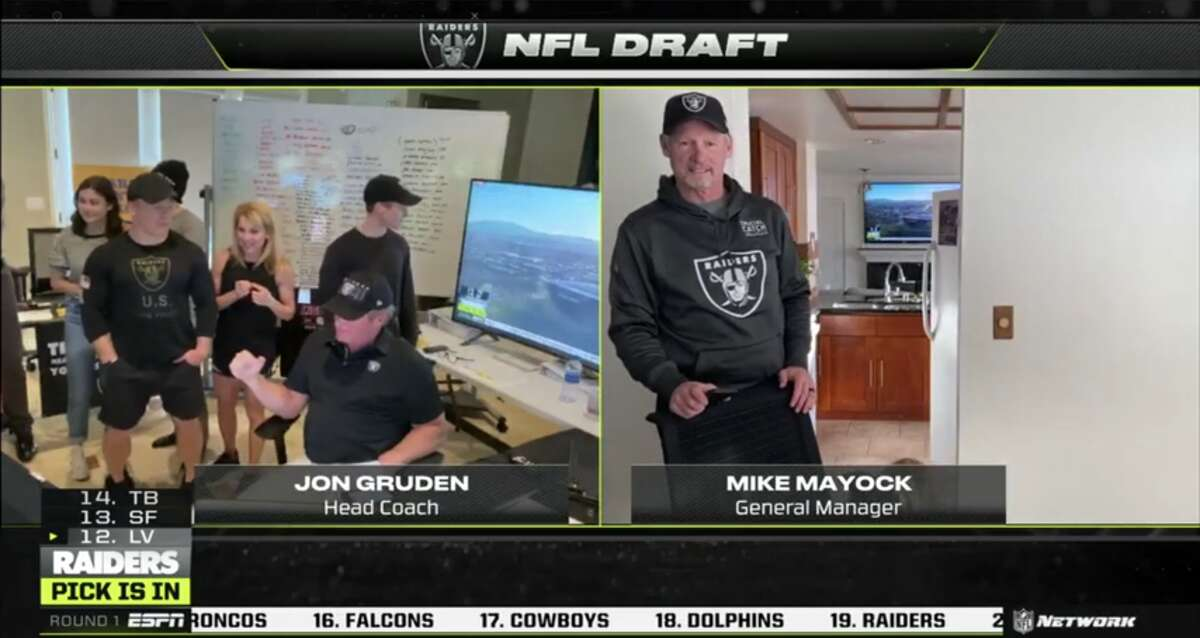 And that was the REAL intrigue watching the draft. Last night proved that NFL luminaries have the exact same taste as the fans they cater to, myself included. Every house on display was an Oscar dress you could tear apart. Adam Schefter's bookshelves featured a number of small vintage helmets, their faces turned away from the camera. Why? Why were they hiding? Were they not officially licensed helmets? Did Schefter - a deeply strange man - have a fetish for the back of helmets? Were the facemasks HAUNTED? There were nine days between picks last night, so I had all the time in the world to think about this crap. I thought about the fact that Auburn coach Gus Malzahn had a Galaga cabinet in his basement. Or was it his TV room? Every room in these guys' houses looks like a fancy basement, so I can't be certain. I wanted that Galaga machine. A real deal arcade cabinet will set you back four figures. Thus, it is now my life goal to be able to afford one. Malzahn better play on that thing. He better not ignore it just because he needs to break down tape of Alcorn State. If he does, I have the legal right to seize it.