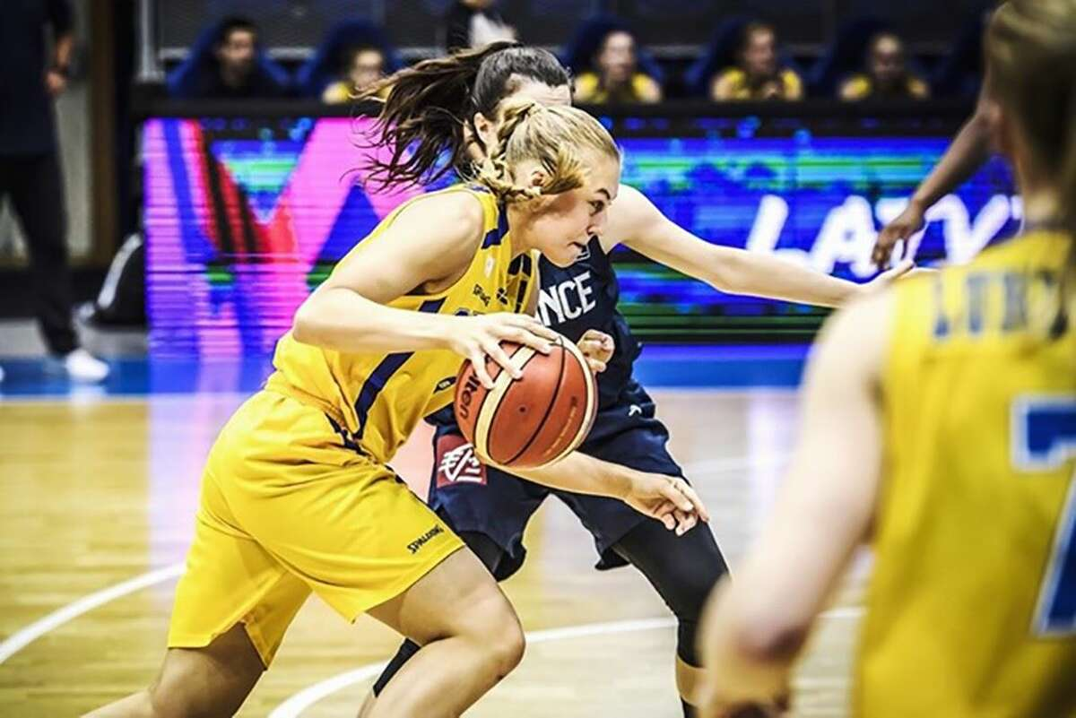 UAlbany basketball recruit Ellen Hahne, a Stockholm, Sweden, native who transferred from Wake Forest. (UAlbany athletics)