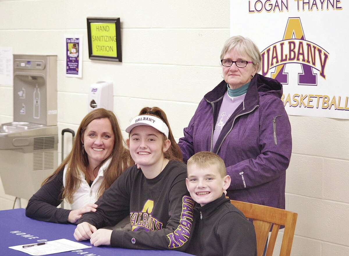 University at Albany women's basketball recruit Logan Thayne of Hoosick Falls. (UAlbany athletics)
