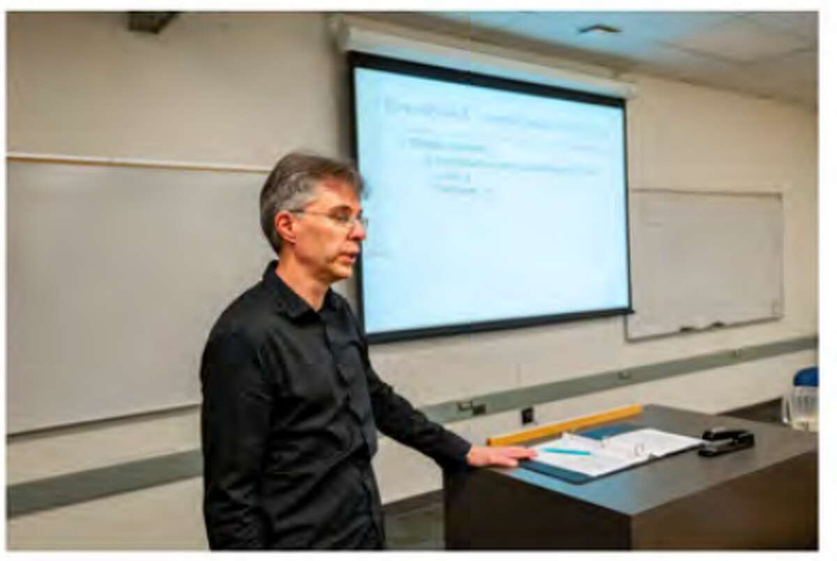 LWTech professor, Rex Jacobsen, teaches his accounting class online. Photo contributed by Rex Jacobsen.