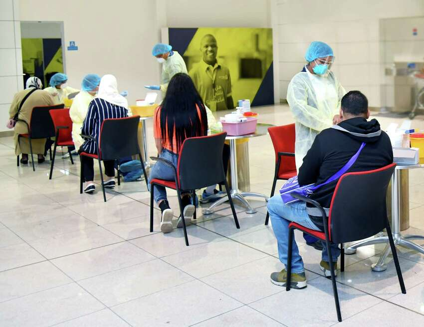 Emirates screens passengers for Covid-19 with a 10-minute blood test.