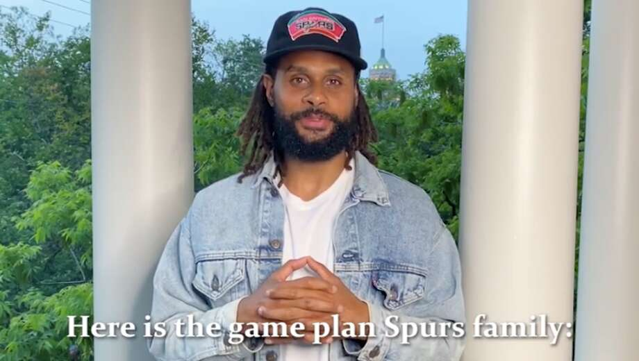 "A new public service announcement featuring Mayor Ron Nirenberg and Spurs point guard Patty Mills lays out a ""game plan,"" championing for the city's social distancing efforts, as researchers predict the local peak to come within the next three weeks. Photo: Courtesy, City Of San Antonio"