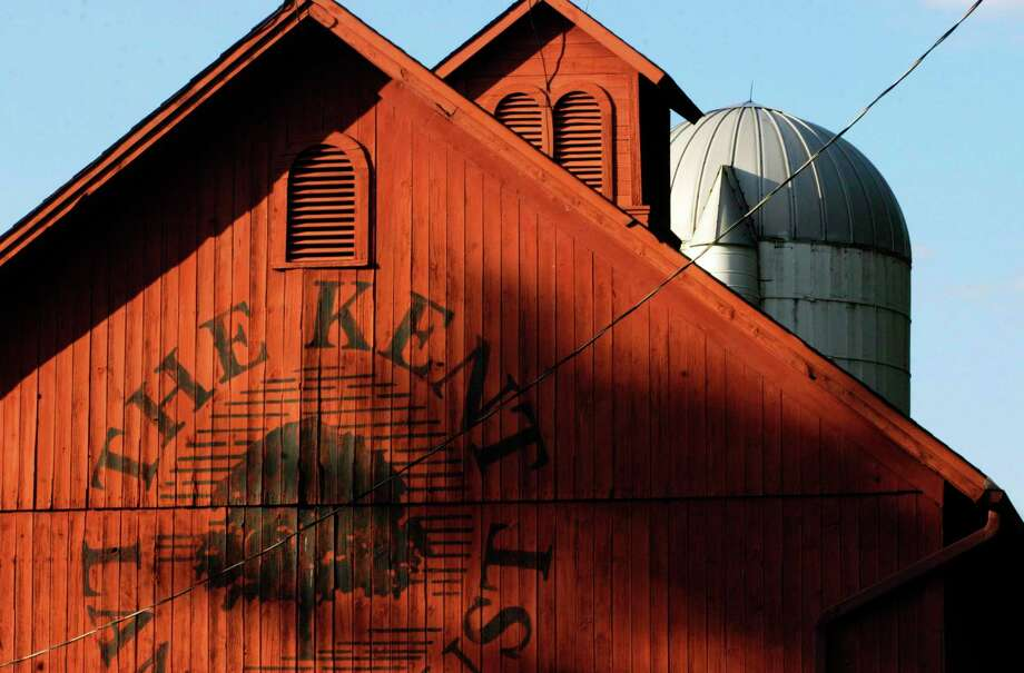 The Kent Land Trust barn along Route 7 in Kent basks in the rich late-afternoon sun in late summer, 2014 Photo: Norm Cummings / Norm Cummings / The News-Times