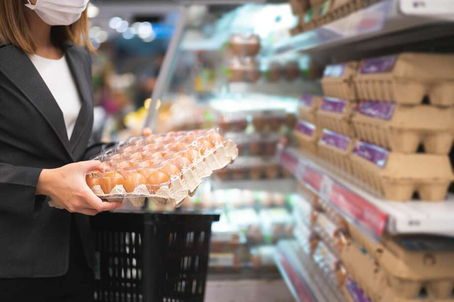 FILE-- Costco, Trader Joe's and Whole Foods are among a list of grocery chains that were hit with a lawsuit alleging that the companies hiked up egg prices amid the coronavirus pandemic. Photo: Kiyoshi Hijiki/Getty Images