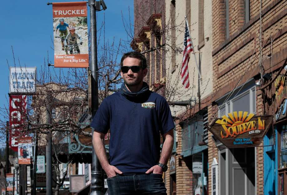 Dave Polivy, the Mayor of Truckee poses for a portrait in downtown Truckee, Ca., on Thurs. April 23, 2020. Photo: Michael Macor / Special To The Chronicle