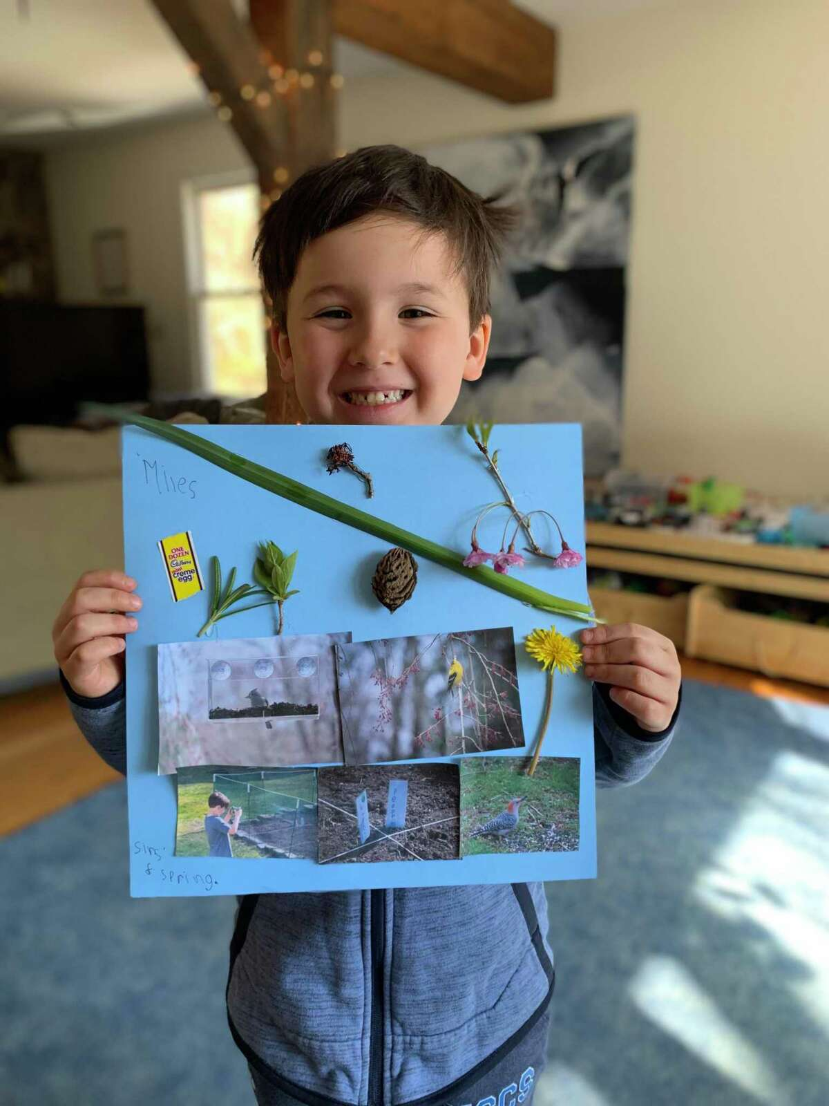Country School kindergarteners shared jokes and artwork with class friends and family in honor of Earth Day, April 22. The activities were part of a day of celebration for members of the pre-k through grade 9 school.