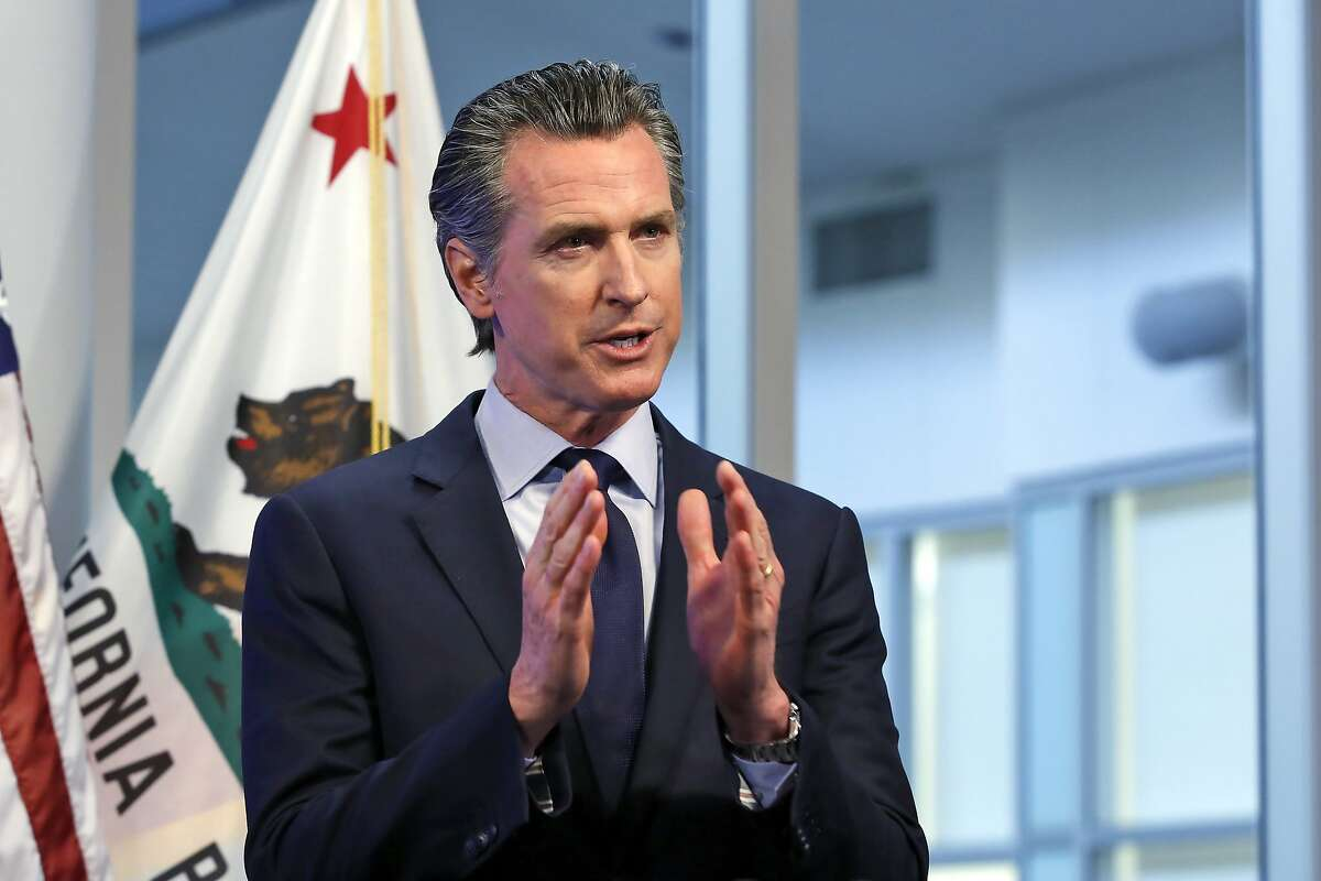 FILE - In this Tuesday, April 14, 2020, file photo, California Gov. Gavin Newsom discusses an outline for what it will take to lift coronavirus restrictions during a news conference at the Governor's Office of Emergency Services in Rancho Cordova, Calif. On a near daily basis since outlining his criteria for someday easing stay-at-home orders, Newsom, who recently allowed scheduled surgeries to resume, has warned Californians that, while he understands their desires to get back to work and a sense of normalcy, lifting the orders too soon could be a public health mistake. (AP Photo/Rich Pedroncelli, Pool, File)