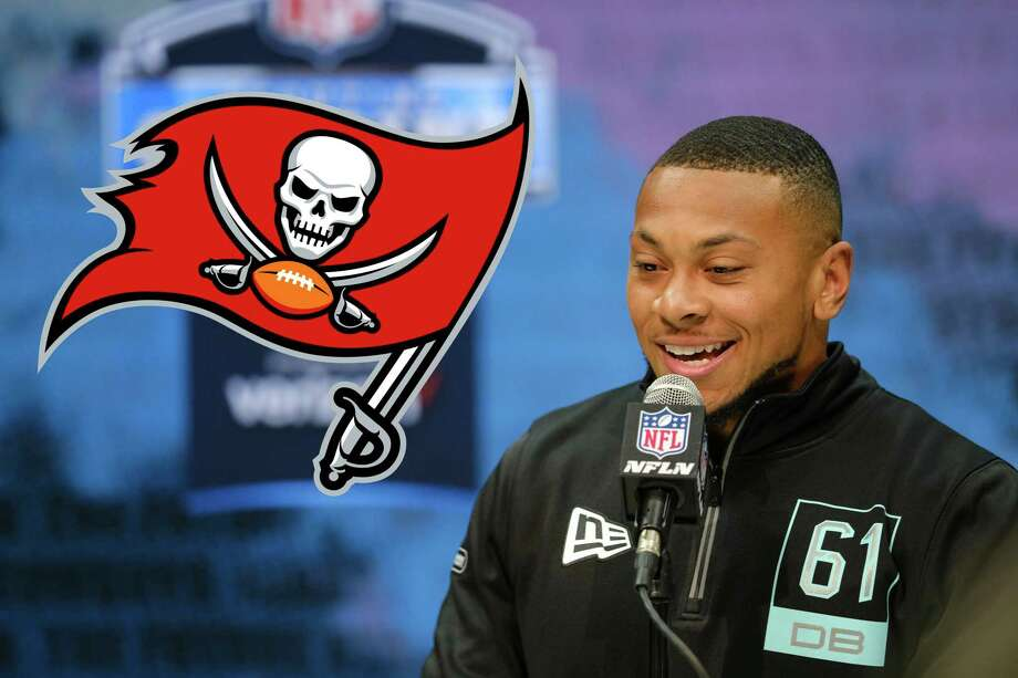 The Woodlands alum Antoine Winfield Jr. was selected by the Tampa Bay Buccaneers with the 45th overall pick in the NFL draft. Photo: Michael Conroy/Associated Press