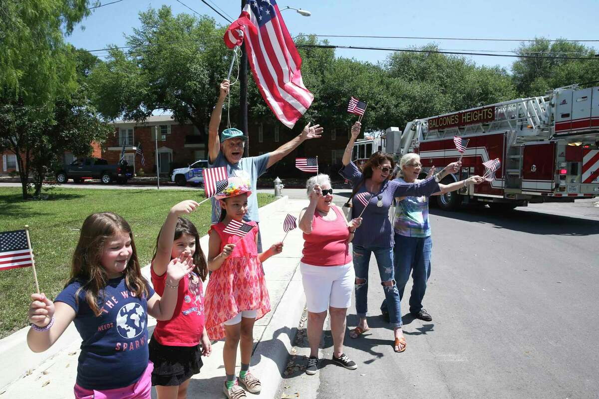 Balcones Heights holds its own Fiesta parade through neighborhoods in the small city Friday.