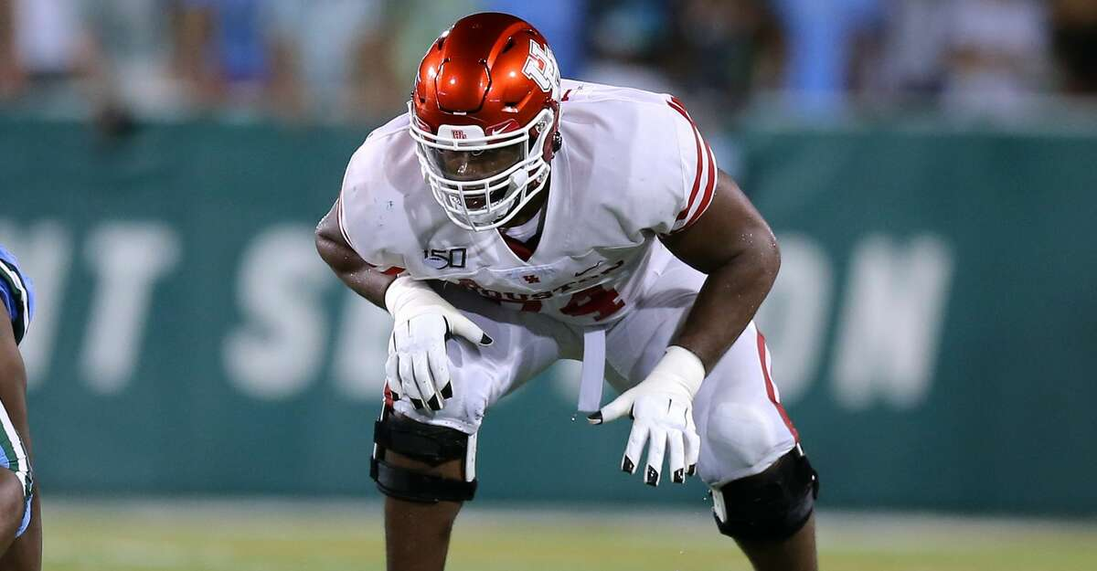 Josh Jones #74 of the Houston Cougars in action during a game against the Tulane Green Wave at Yulman Stadium on September 19, 2019 in New Orleans, Louisiana. (Photo by Jonathan Bachman/Getty Images)