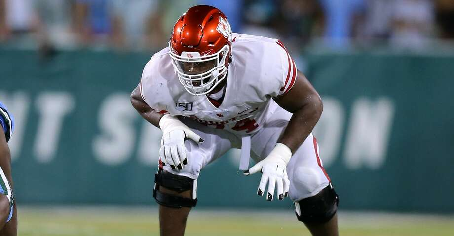 Josh Jones #74 of the Houston Cougars in action during a game against the Tulane Green Wave at Yulman Stadium on September 19, 2019 in New Orleans, Louisiana. (Photo by Jonathan Bachman/Getty Images) Photo: Jonathan Bachman/Getty Images / 2019 Jonathan Bachman