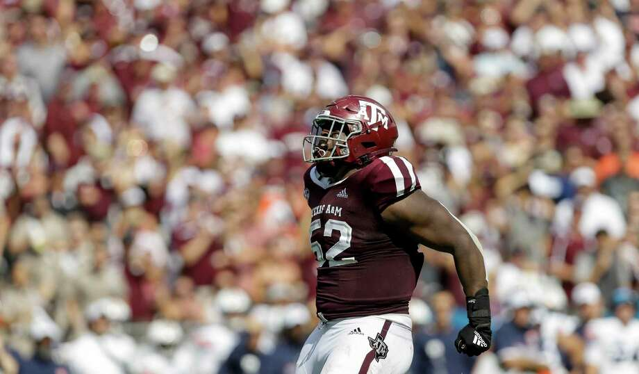 Justin Madubuike is Texas A&M's first player taken in this draft. Photo: Godofredo A. Vásquez, Houston Chronicle / Staff Photographer / © 2019 Houston Chronicle