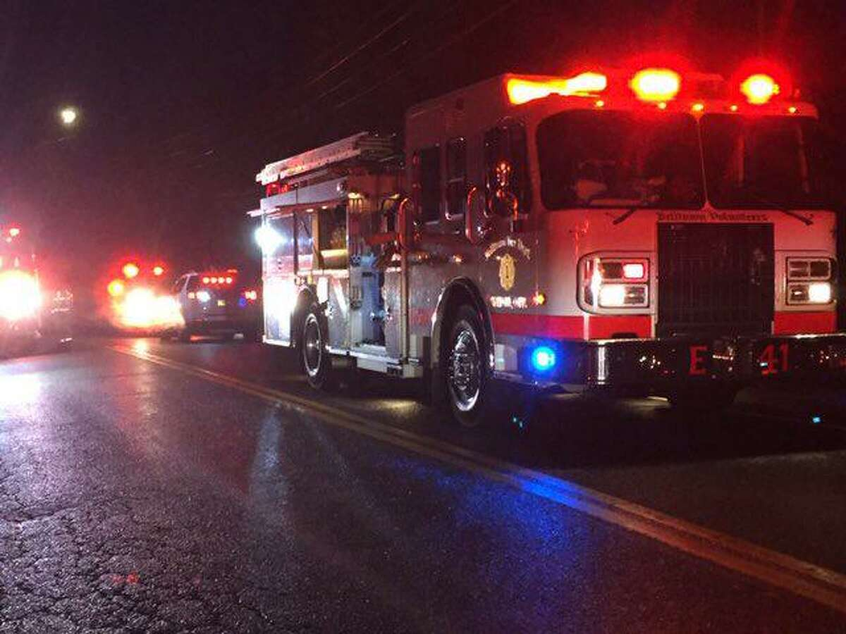 Firefighters with the Belltown Fire Department extinguished a garage fire on Pepper Ridge Road Friday night.
