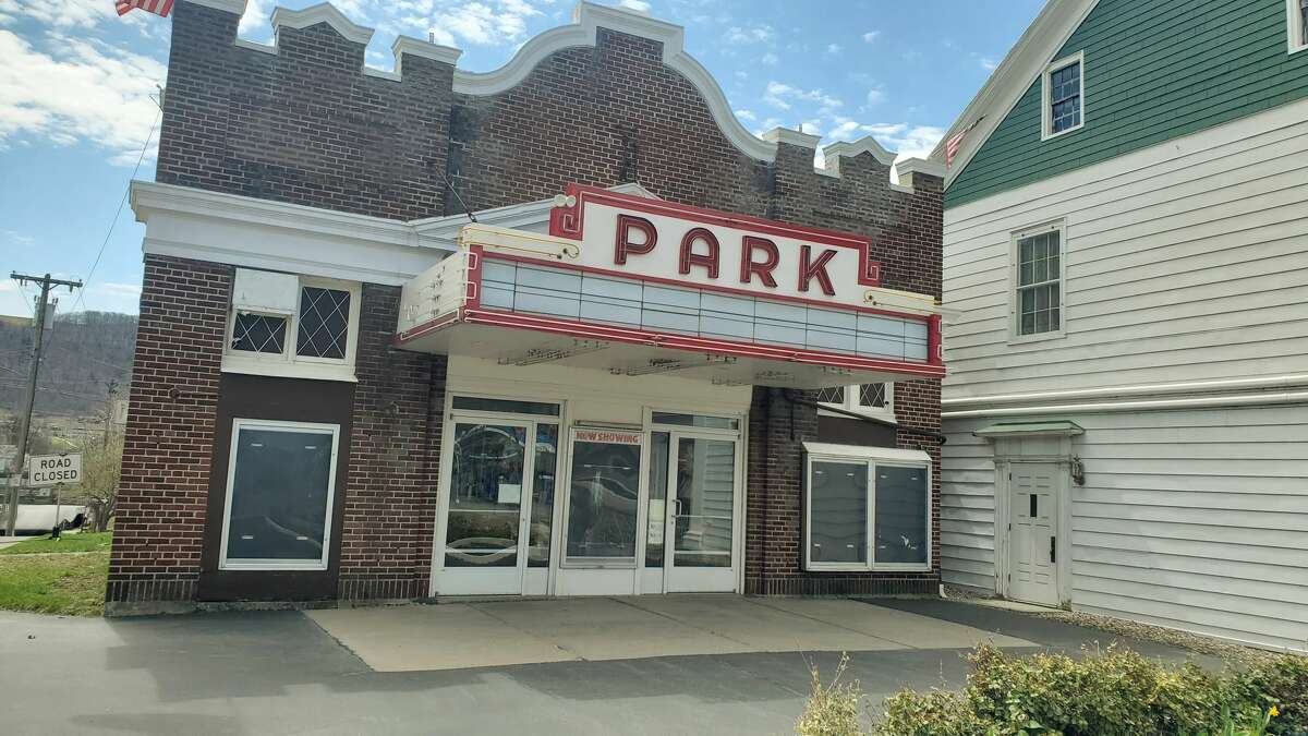 The Park Theater, a movie theater in Cobleskill, has been shuttered by the coronavirus, like many businesses in the Schoharie County town. (Chris Churchill / Times Union)